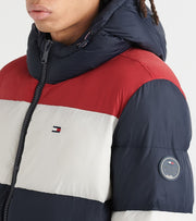 Tommy Hilfiger  Colorblock Hood Puffer Jacket  Multi - I59AP946-MJF | Jimmy Jazz