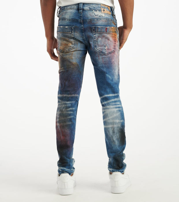 Industrial Indigo  Black Painted Jeans  Black - ITNWB001-BLK | Jimmy Jazz