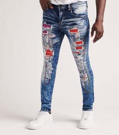 Industrial Indigo  Rnr Jeans W Color Backing  Black - ITNWB031-IND | Jimmy Jazz