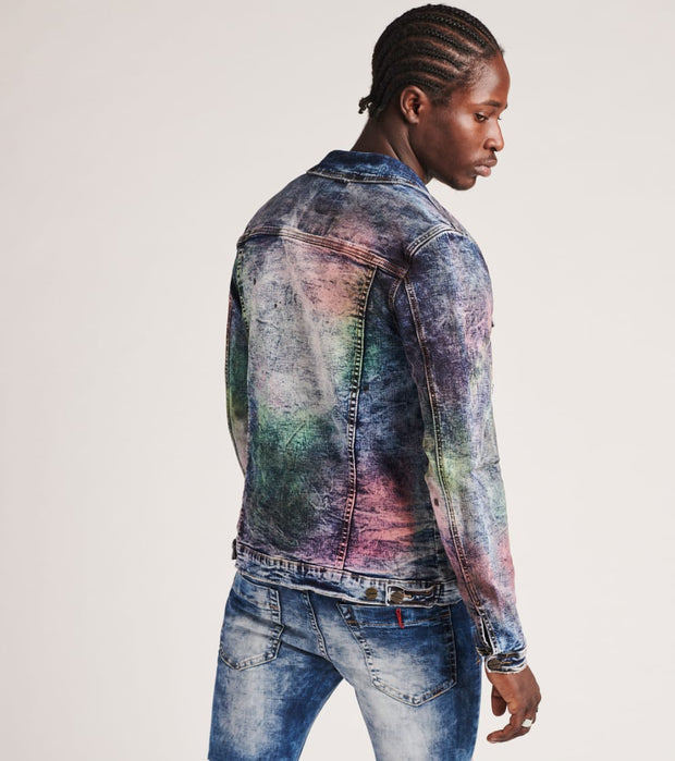Industrial Indigo  Color Splash Denim Jacket  Multi - ITNWJKT015-IND | Jimmy Jazz