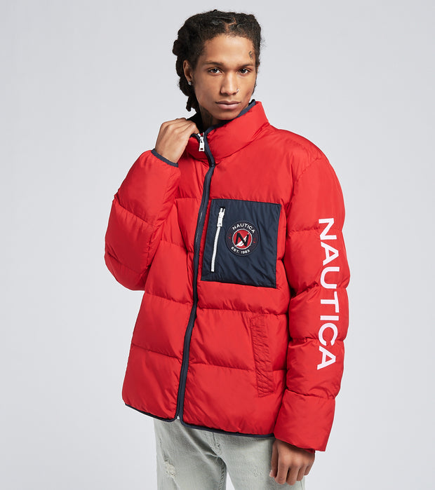 Nautica  Tempasphere Puffer Jacket  Red - J93301-6NR | Jimmy Jazz