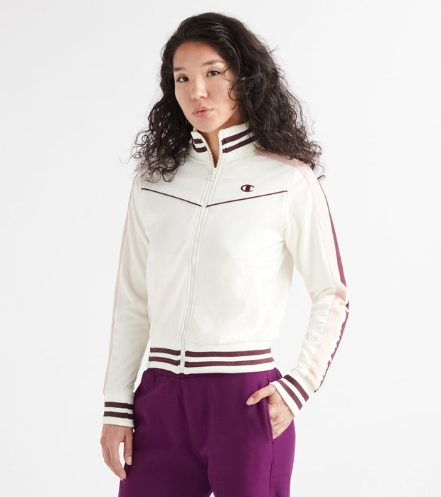 Champion  Tricot Track Jacket Champion Taping  White - JL4391550299-1QF | Jimmy Jazz