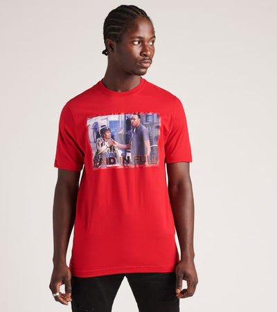 DE.KRYPTIC  Paid In Full Streets Short Sleeve Tee  Red - JMTS052801MRX-RED | Jimmy Jazz