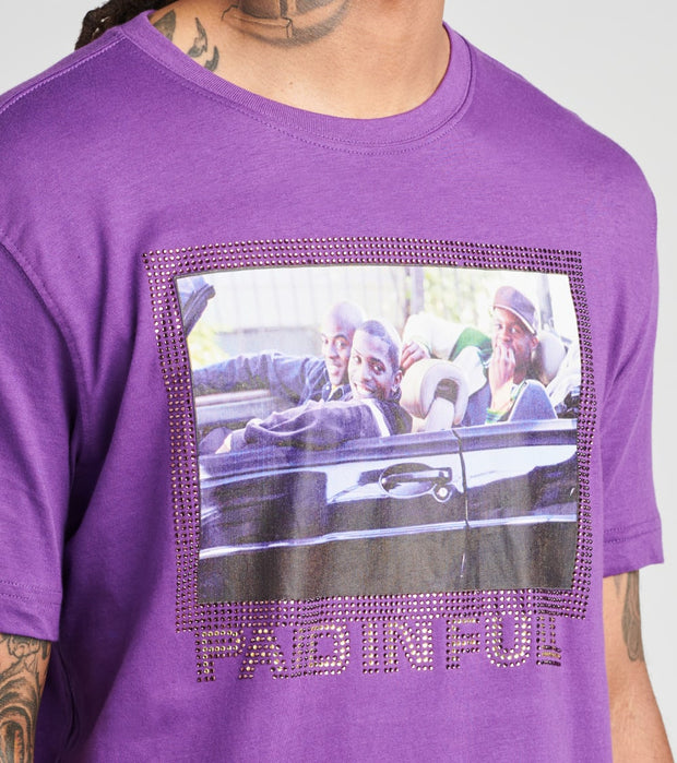 DE.KRYPTIC  Paid in Full Ridin Crew Short Sleeve Tee  Purple - JMTS052804MRX-PRP | Jimmy Jazz