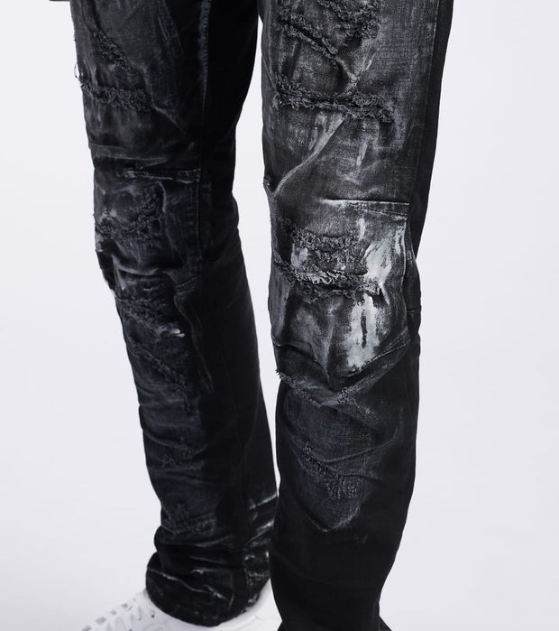 Decibel  Slim Tapered Jeans - L34  Black - JP20126L34-CRB | Jimmy Jazz