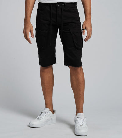Decibel  Cargo Shorts with Drawcord  Black - JS120113-BLK | Jimmy Jazz