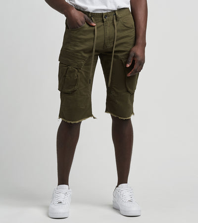 Decibel  Cargo Shorts with Drawcord  Green - JS120113-OLV | Jimmy Jazz