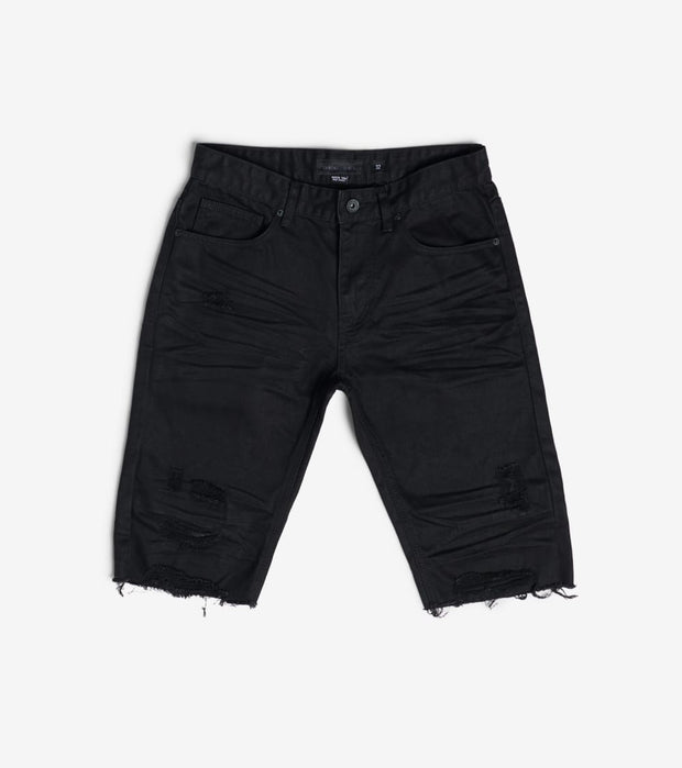 Decibel  Basic Rip off Denim Shorts  Black - JS120141-BLK | Jimmy Jazz