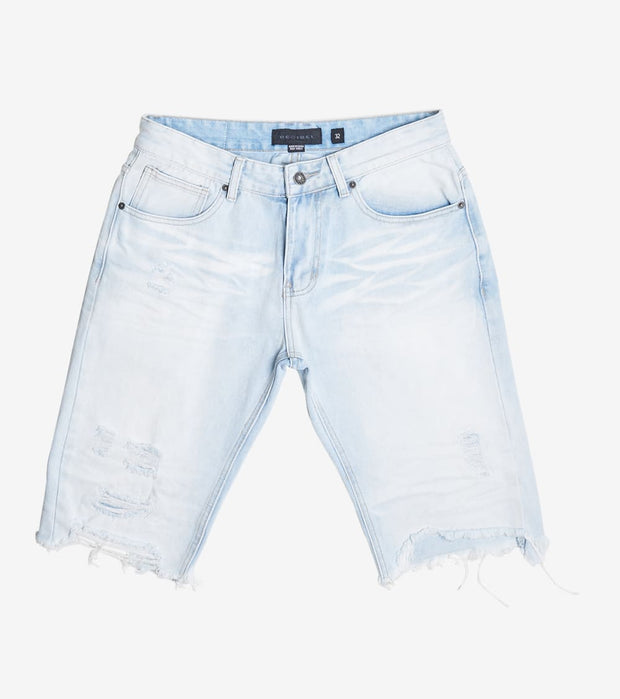 Decibel  Basic Rip Off Denim Shorts  Blue - JS120141-PBL | Jimmy Jazz