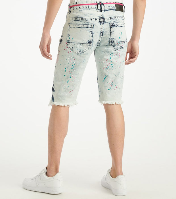 Decibel  Denim Shorts With String N Accents  Blue - JS120221-ABL | Jimmy Jazz