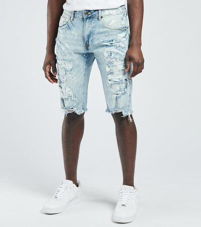 Decibel  Destructed Denim Shorts  Blue - JS121121-MTB | Jimmy Jazz