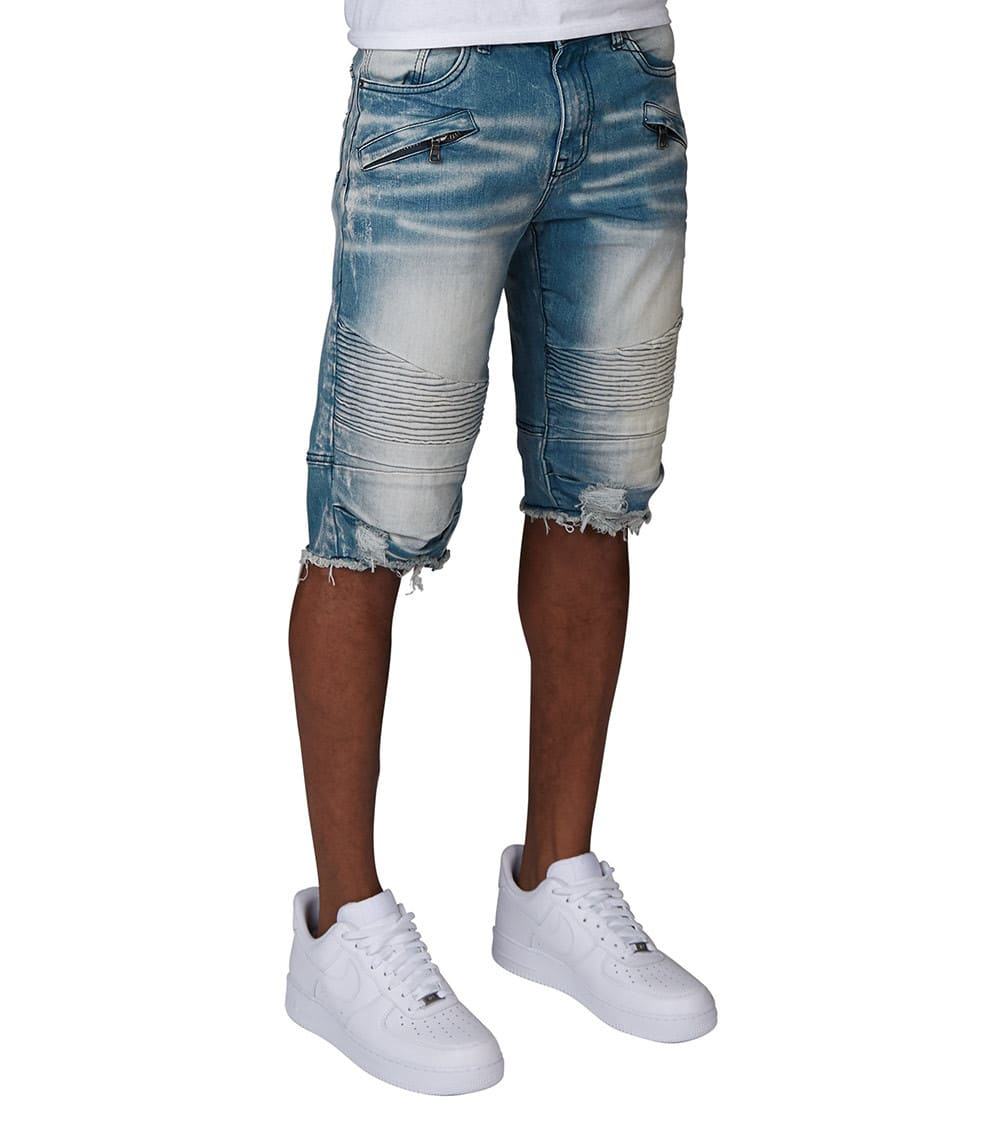 Decibel  Unfinished Denim Shorts  Blue - JS18133-GBL | Jimmy Jazz