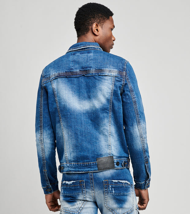 Smugglers Moon  Cargo Denim Jacket  Blue - JSMWJKT009-IND | Jimmy Jazz