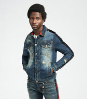 Smugglers Moon  Cargo Denim Jacket  Blue - JSMWJKT011-IND | Jimmy Jazz
