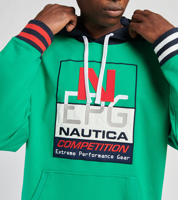 Nautica  Reissue Active Pullover Hoodie  Green - K15575-3PX | Jimmy Jazz