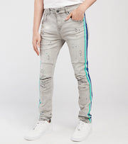 KD Apparel   Side Stripe KD Jeans L32  Grey - KD2003L32-GRY | Jimmy Jazz
