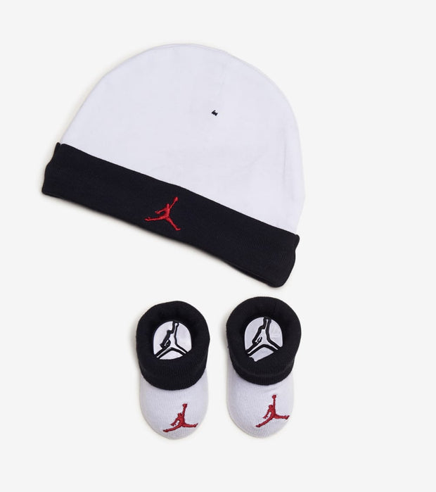 Jordan  Jumpman Hat and Booties 2 Piece Set  White - LJ0102-001 | Jimmy Jazz