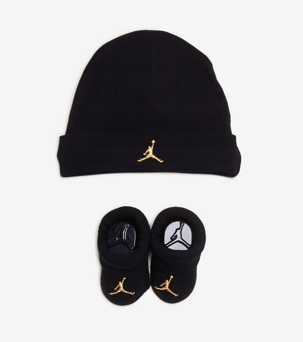 Jordan  Jumpman Hat and Booties 2 Piece Set  Black - LJ0102-K5X | Jimmy Jazz