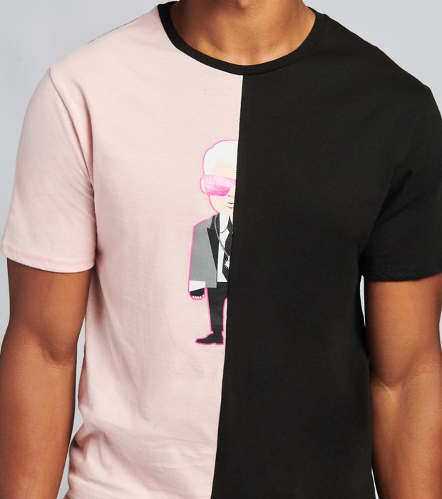 Karl Lagerfeld  Karltoon Color Block Tee  Black - LM0K3690-BPZ | Jimmy Jazz