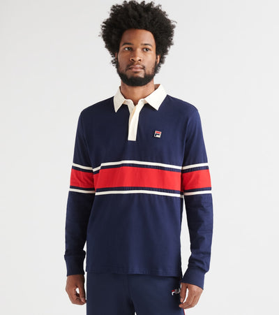 Fila  Peter Rugby Polo Long Sleeve  Navy - LM173J98-410 | Jimmy Jazz