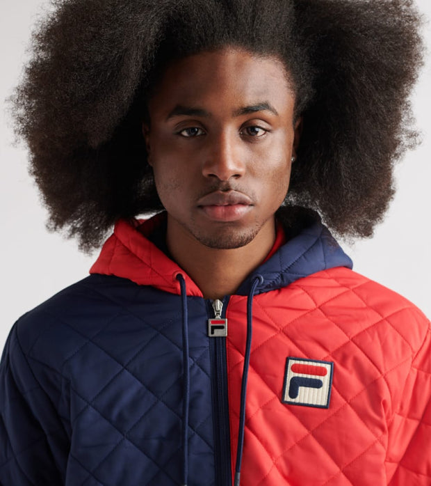Fila  Sawyer Quilted Jacket  Red - LM911292-640 | Jimmy Jazz