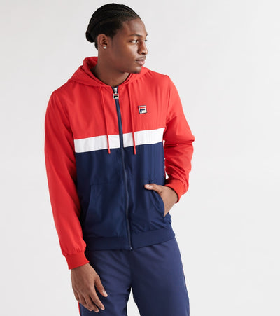 Fila  Ambrose Hooded Windbreaker Jacket  Red - LM911295-640 | Jimmy Jazz