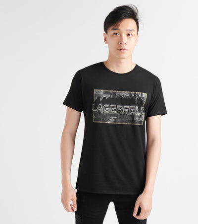 Karl Lagerfeld  Foil Accent Screen Logo Print Tee  Black - LM9K3791-BLK | Jimmy Jazz