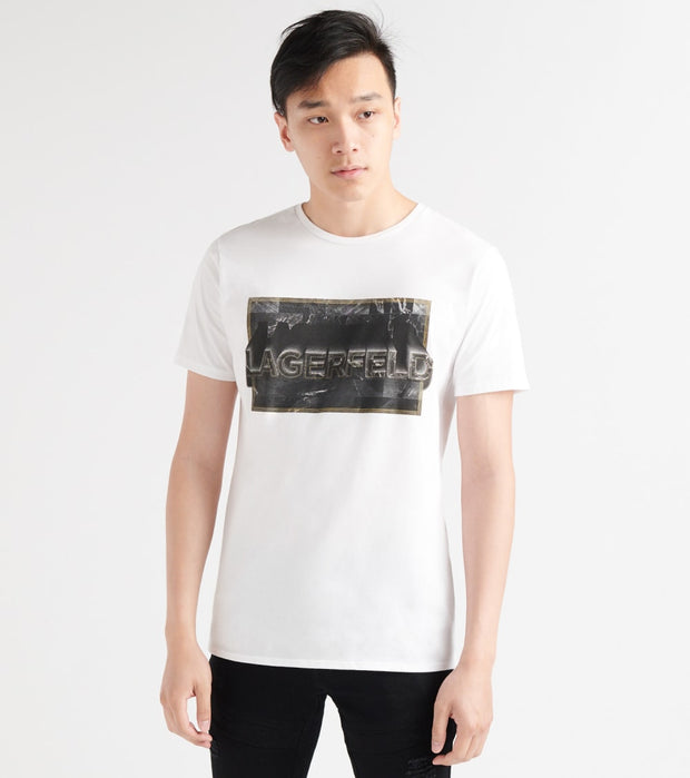 Karl Lagerfeld  Foil Accent Screen Logo Print Tee  White - LM9K3791-WHT | Jimmy Jazz