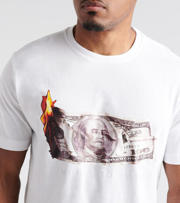 DE.KRYPTIC  Money to Burn Tee  White - LOKT004-WHT | Jimmy Jazz
