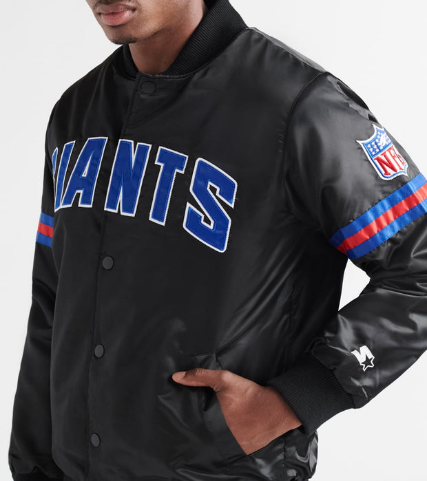 Starter  Giants Stripe Varsity Jacket  Black - LS700503-GIA | Jimmy Jazz