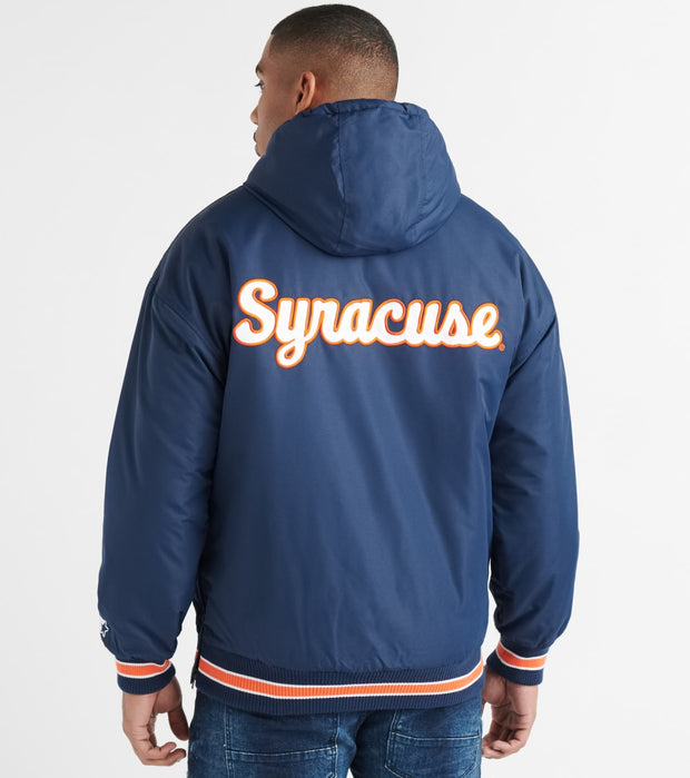 Starter  Syracuse Player Snap Front Jacket  Navy - LS720501-SYR | Jimmy Jazz