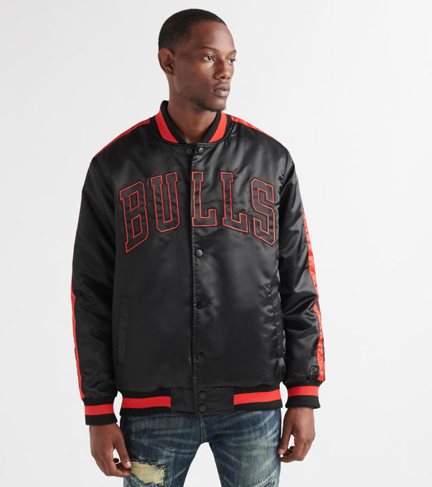 Starter  Bulls Varsity Satin Jacket  Black - LS93X061CGB-BLK | Jimmy Jazz