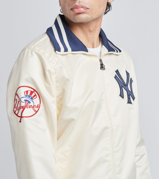 Starter  New York Yankees Varsity Jacket  White - LSZ50933NYY-OWT | Jimmy Jazz