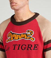 Le Tigre  Le Tigre Patch Sweater  Red - LT19K204-RED | Jimmy Jazz