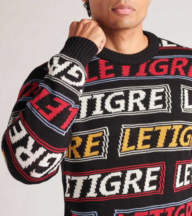 Le Tigre  All Over Print Sweater  Black - LT19K210-BLK | Jimmy Jazz