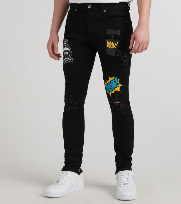 Freeze  Martian Boom Jeans  Black - LT40231-BLK | Jimmy Jazz