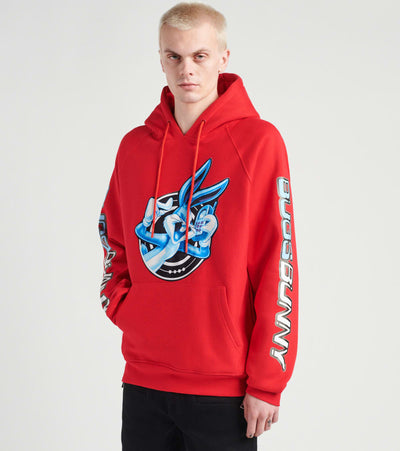 Freeze  Bugs Bunny Burner Phone Pullover Hoodie  Red - LT50285-RED | Jimmy Jazz