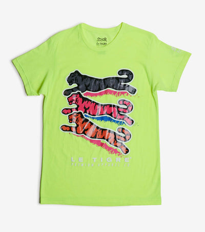 Le Tigre  3 Tigers Tee  Green - LT566-LIM | Jimmy Jazz