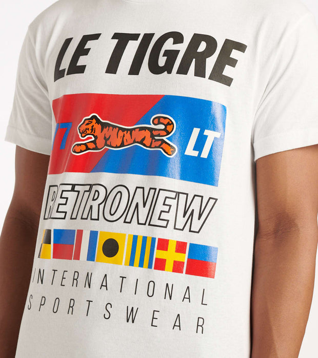 Le Tigre  Flag Tee  White - LT571-WHT | Jimmy Jazz
