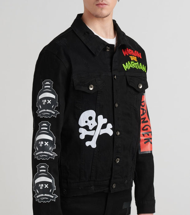 Freeze  Martian Boom Denim Jacket  Black - LT60230-BLK | Jimmy Jazz