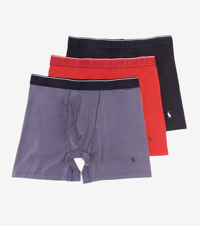Polo  3 Pack Microfiber Boxer Briefs  Navy - LVBBP3-AW6G | Jimmy Jazz