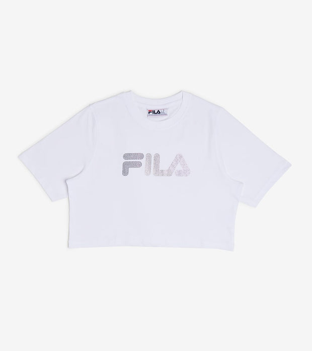 Fila  Nasiba Crop Tee  White - LW016165-100 | Jimmy Jazz