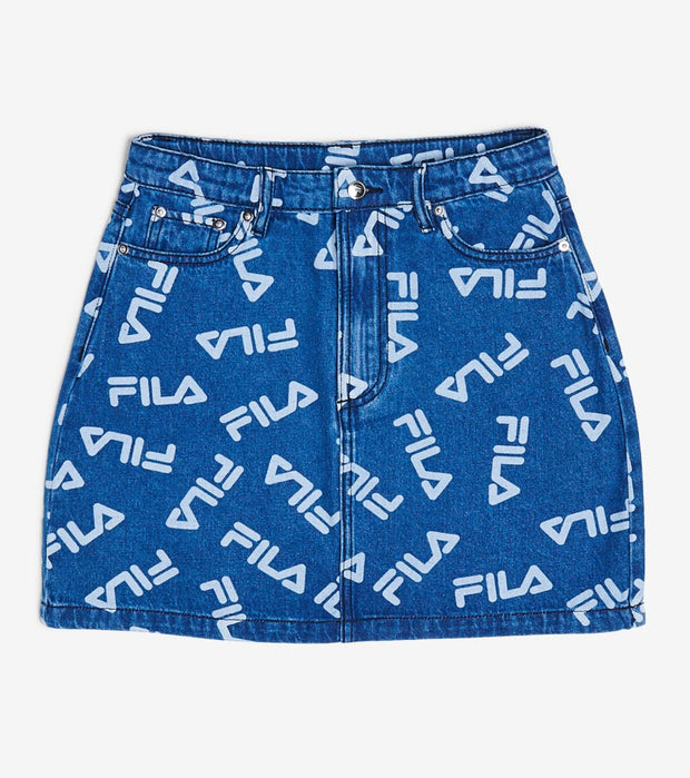 Fila  Mia Denim Skirt  Blue - LW016171-450 | Jimmy Jazz