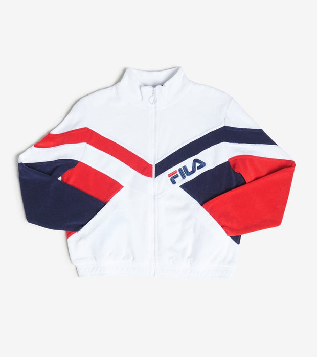 Fila  Hadley Towel Terry Jacket  White - LW016191-100 | Jimmy Jazz