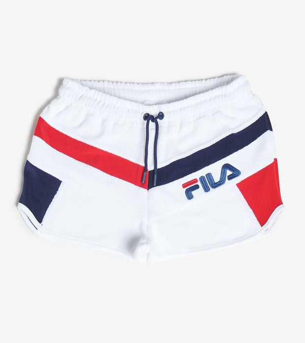 Fila  Hazel Towel Terry Short  White - LW016192-100 | Jimmy Jazz