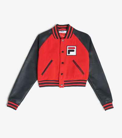 Fila  Rosalie Crop Sequin Logo Jacket  Red - LW016217-640 | Jimmy Jazz