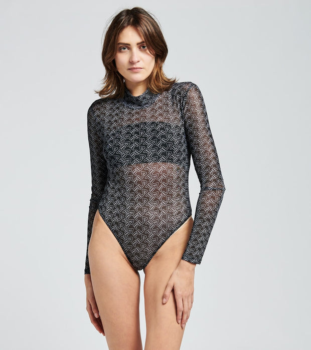 Fila  Gaganga Sheer Bodysuit  Black - LW037684-001 | Jimmy Jazz