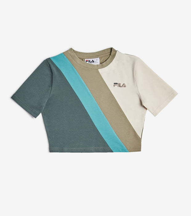 Fila  Ekta Cropped Short Sleeve Tee  Beige - LW037695-396 | Jimmy Jazz