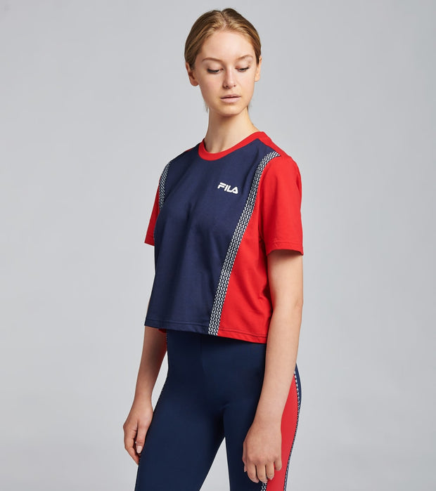 Fila  Molly Short Sleeve Tee  Navy - LW037894-410 | Jimmy Jazz