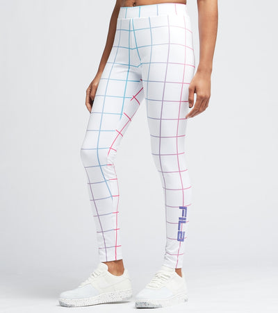 Fila  Massima High Rise Leggings  White - LW119279-100 | Aractidf